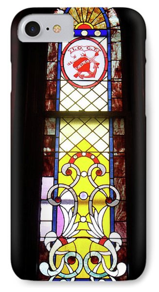 Yellow Stained Glass Window Phone Case by Thomas Woolworth