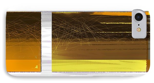 Yellow Storm IPhone Case by Naxart Studio