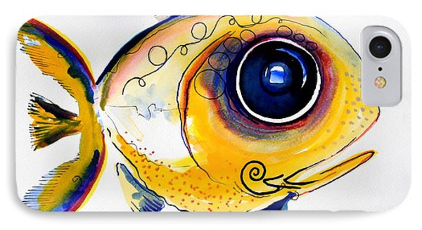 Yellow Study Fish Phone Case by J Vincent Scarpace