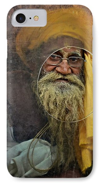 Yellow Turban At The Window IPhone Case by Valerie Rosen