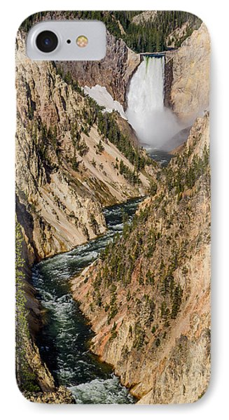 Yellowstone Falls From Artists Point Phone Case by Greg Nyquist