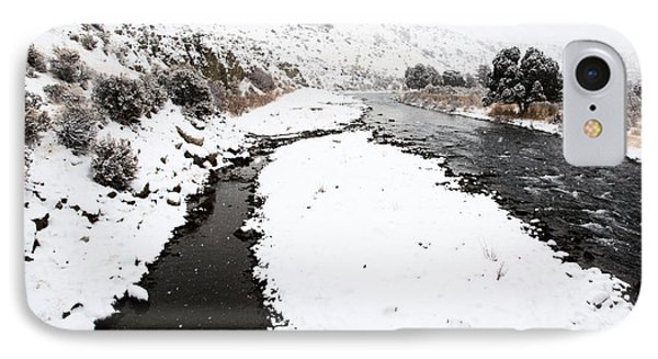 Yellowstone Park Wyoming Winter Snow Soda Butte Creek Phone Case by Mark Duffy