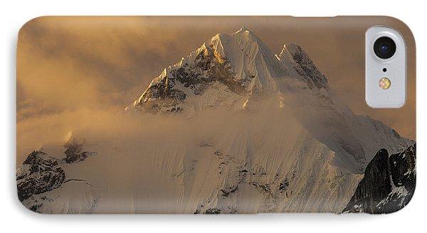 Yerupaja Summit Ridge 6617m At Sunset Phone Case by Colin Monteath