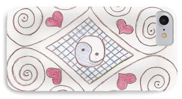Yin Yang Swirls Pastel Phone Case by Jeannie Atwater Jordan Allen