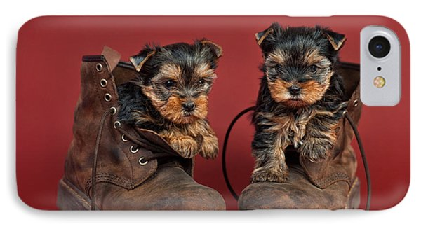 Yorkshire Terrier Puppies  Phone Case by Marta Holka