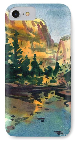IPhone Case featuring the painting Yosemite Valley In January by Donald Maier