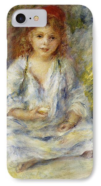 Young Algerian Girl IPhone Case by Pierre Auguste Renoir