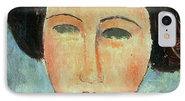 Young Brunette Phone Case by Modigliani