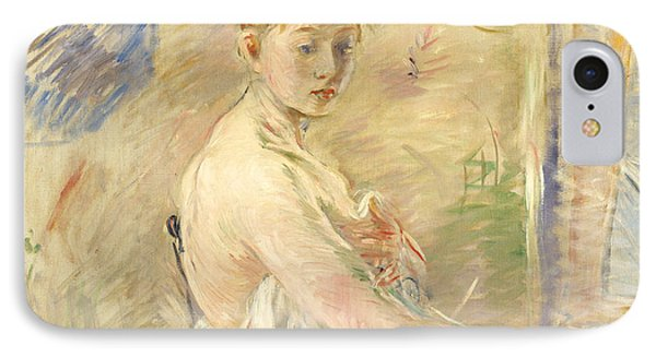 Young Girl Getting Up Phone Case by Berthe Morisot