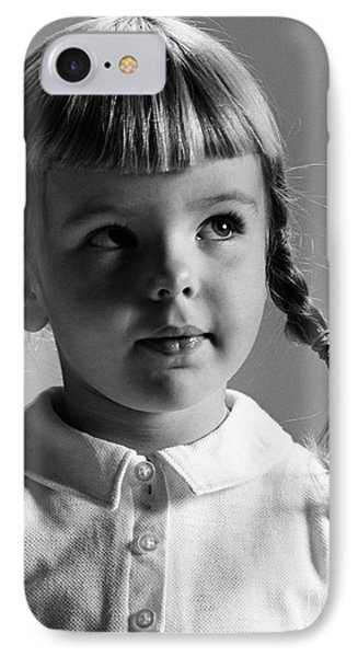 Young Girl Phone Case by Hans Namuth and Photo Researchers
