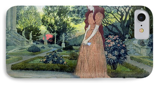 Young Girl In A Garden  Phone Case by Eugene Grasset