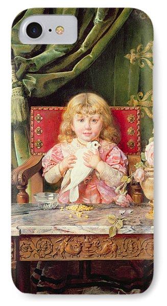 Young Girl With A Dove   Phone Case by Ignacio Leon y Escosura