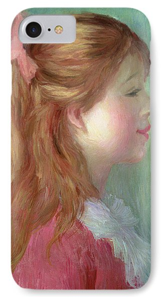 Young Girl With Long Hair In Profile IPhone Case