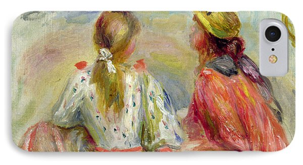 Young Girls On The Beach Phone Case by Pierre Auguste Renoir
