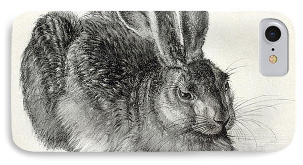 Young Hare, By Durer Phone Case by Sheila Terry