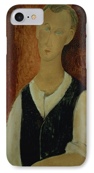 Young Man With A Black Waistcoat Phone Case by Amedeo Modigliani