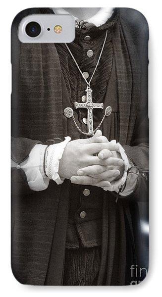 Young Renaissance Priest Phone Case by Jill Battaglia