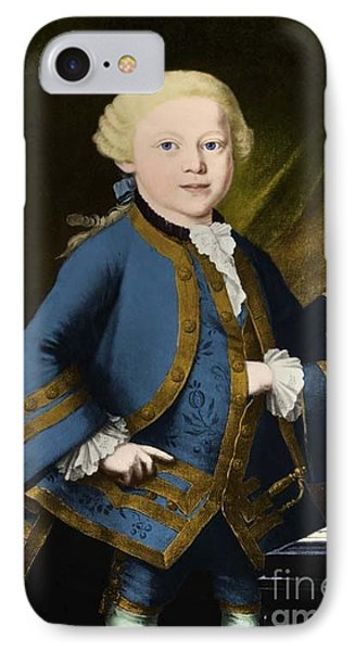 Young Wolfgang Amadeus Mozart, Austrian Phone Case by Omikron