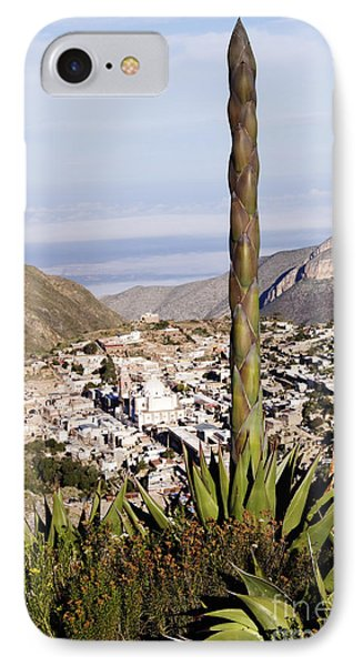 Yucca Tree And Town Phone Case by Jeremy Woodhouse