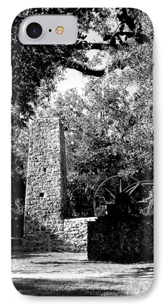 Yulee Sugarmill 2  Black And White IPhone Case by Judy Wanamaker