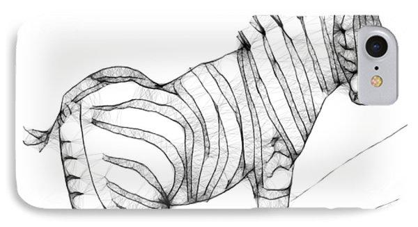 Zebra Doodle Phone Case by Arline Wagner