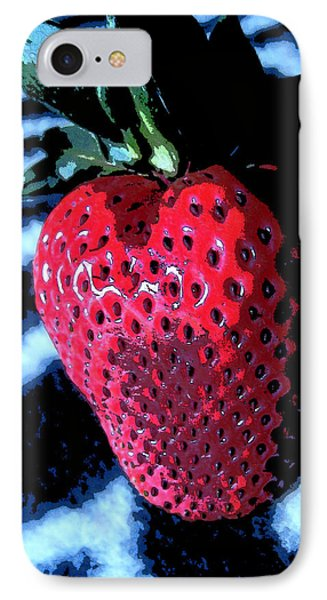 IPhone Case featuring the photograph Zebra Strawberry by Kym Backland