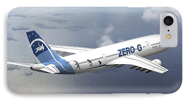 Zero-g Airbus Aircraft, Artwork Phone Case by David Ducros