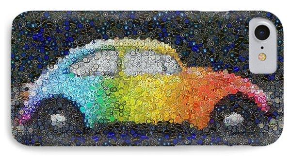 Zodiac Vw Bug Mosaic Phone Case by Paul Van Scott