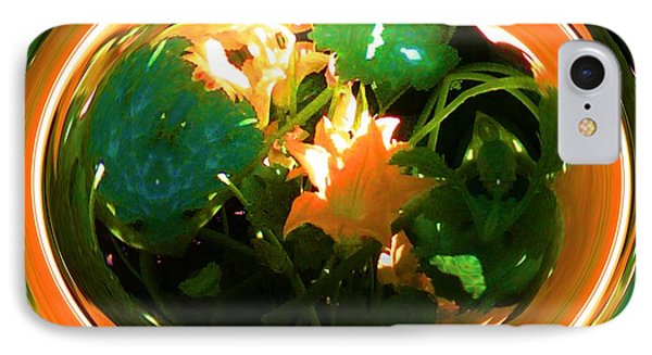 IPhone Case featuring the photograph Zucchini Flowers Under Glass by George Pedro