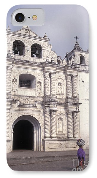 IPhone Case featuring the photograph Zunil Church Guatemala by John  Mitchell