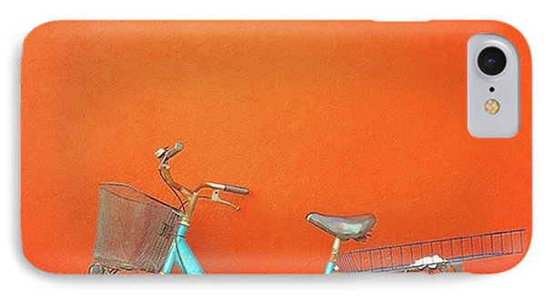 Blue Bike In Burano Italy IPhone 7 Case by Anne Hilde Lystad