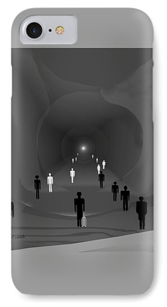 249 - The Light At The End Of The Tunnel   IPhone Case by Irmgard Schoendorf Welch