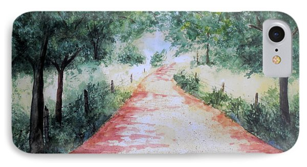 A Country Road IPhone Case by Vicki  Housel