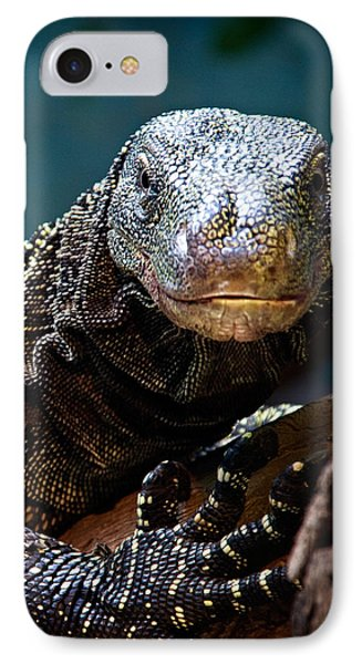 IPhone Case featuring the photograph  A Crocodile Monitor Portrait by Lana Trussell