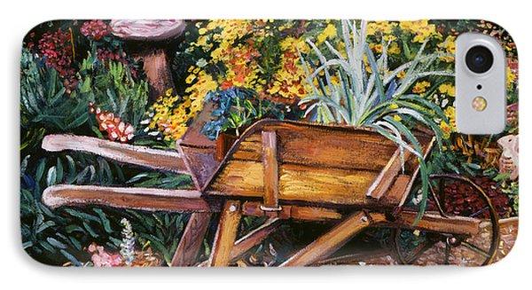 A Gardener's Helper IPhone Case by David Lloyd Glover