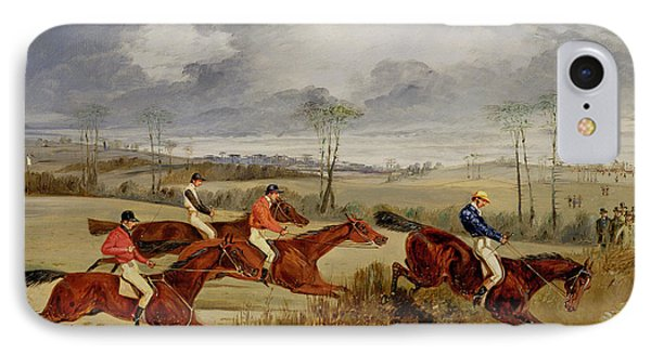A Steeplechase - Near The Finish Phone Case by Henry Thomas Alken