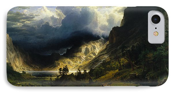 A Storm In The Rocky Mountains Mt. Rosalie IPhone Case by Albert Bierstadt