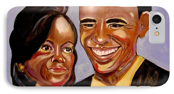 Barak And Michelle Obama   The Power Of Love IPhone Case by Rusty Woodward Gladdish