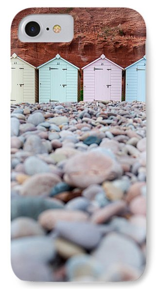 Beach Huts And Pebbles IPhone Case
