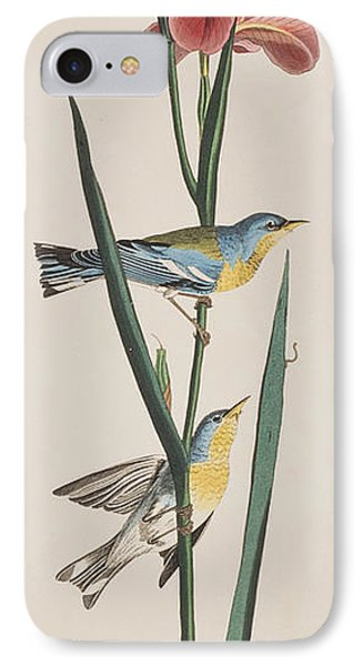 Blue Yellow-backed Warbler IPhone 7 Case by John James Audubon