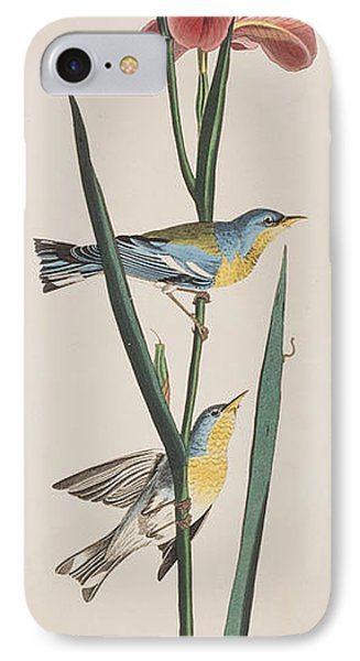 Blue Yellow-backed Warbler IPhone 7 Case by John James Audubon