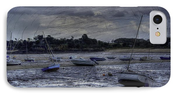 Boats On The Beach In November IPhone Case by Karo Evans