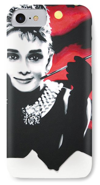 - Breakfast At Tiffannys -  IPhone 7 Case by Luis Ludzska