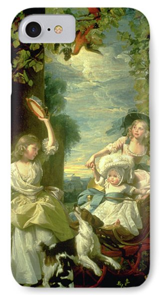 Bucoloic Painting By Honore Fragonard Phone Case by Carl Purcell