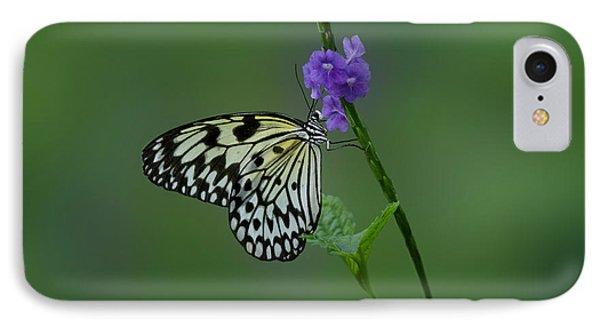 Butterfly On Flower  Phone Case by Sandy Keeton
