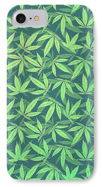 Cannabis   Hemp  420   Marijuana  Pattern IPhone Case by Philipp Rietz