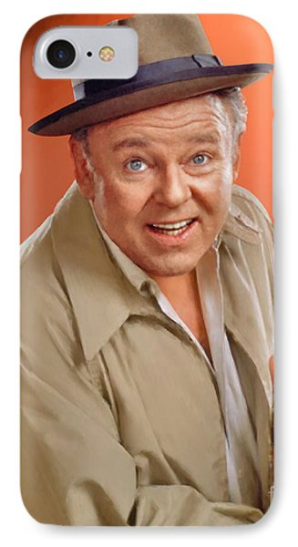 Carroll O'connor As Archie Bunker IPhone Case