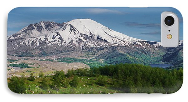 Castle Lake And Mt. St. Helens IPhone Case by Ansel Price