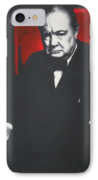 - Churchill - IPhone Case by Luis Ludzska