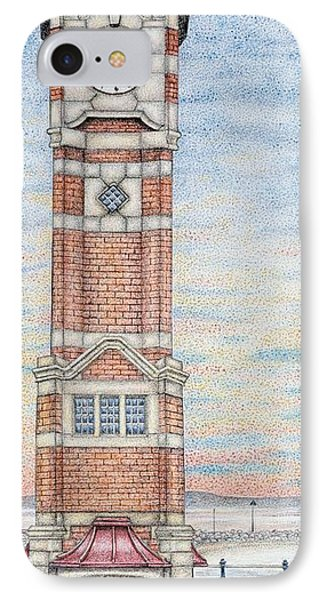 Clock Tower  Morecambe  Lancashire IPhone Case by Sandra Moore